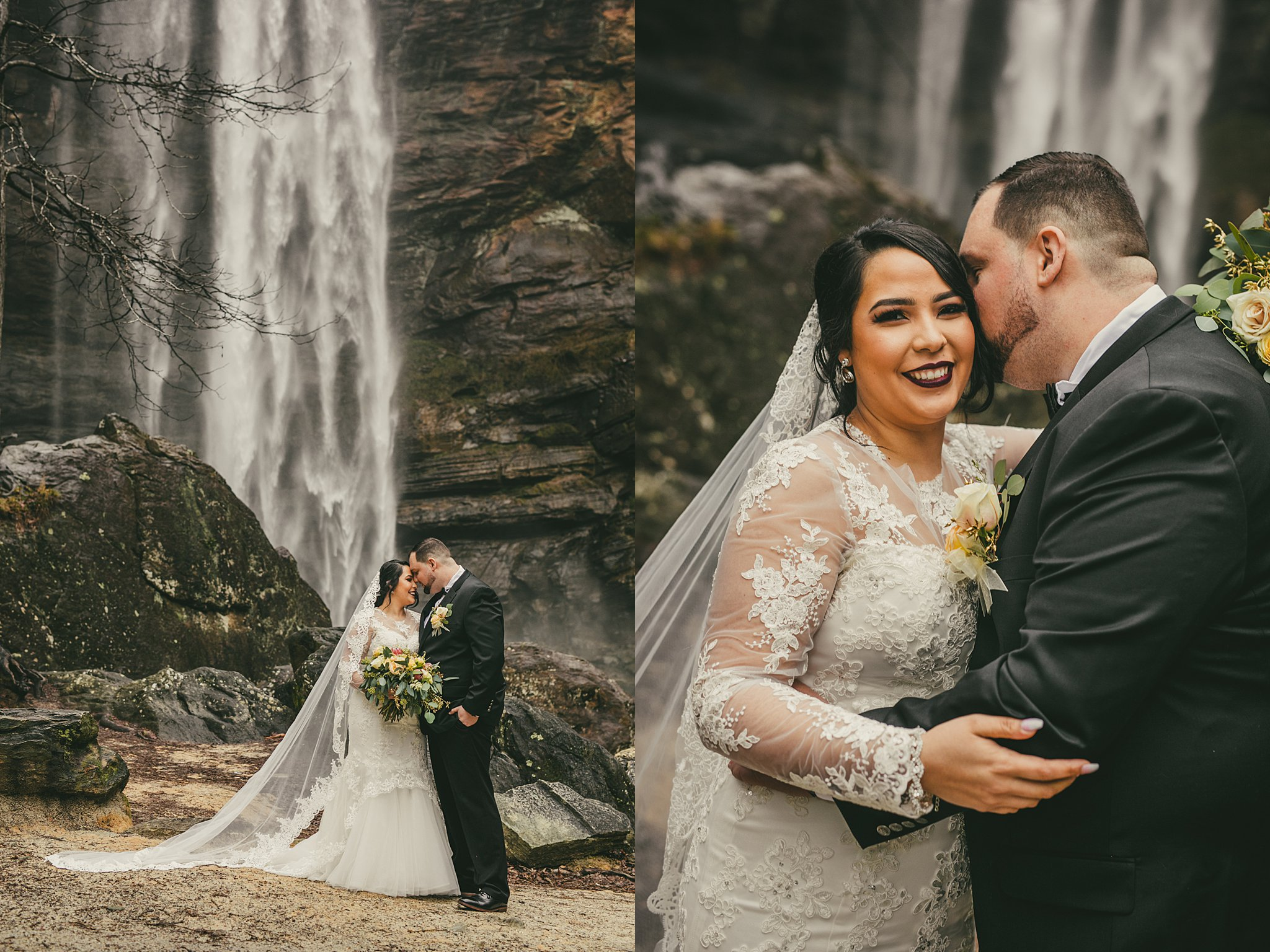 AtlantaWeddingPhotographers Toccoa Falls Waterfall Wedding