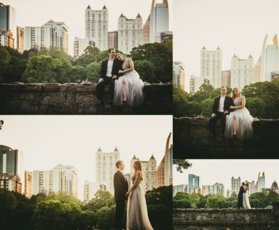 AtlantaWeddingPhotographers Atlanta Skyline Engagement Session