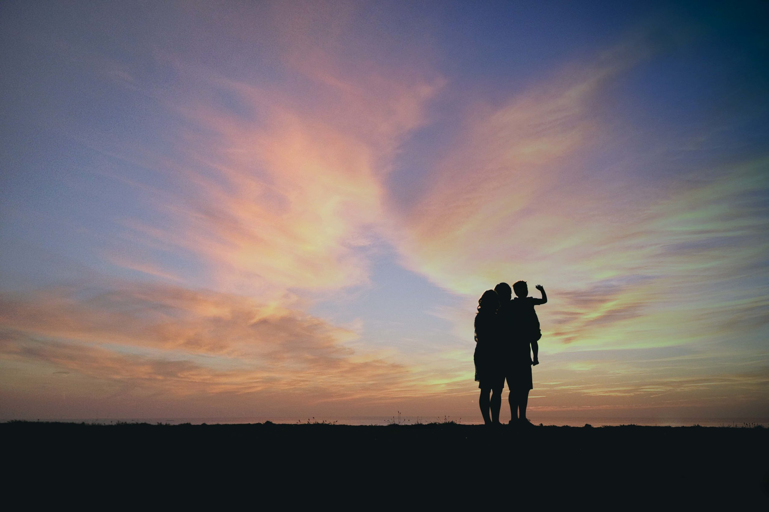 Atlanta Family Photographer Silhouette Sunset