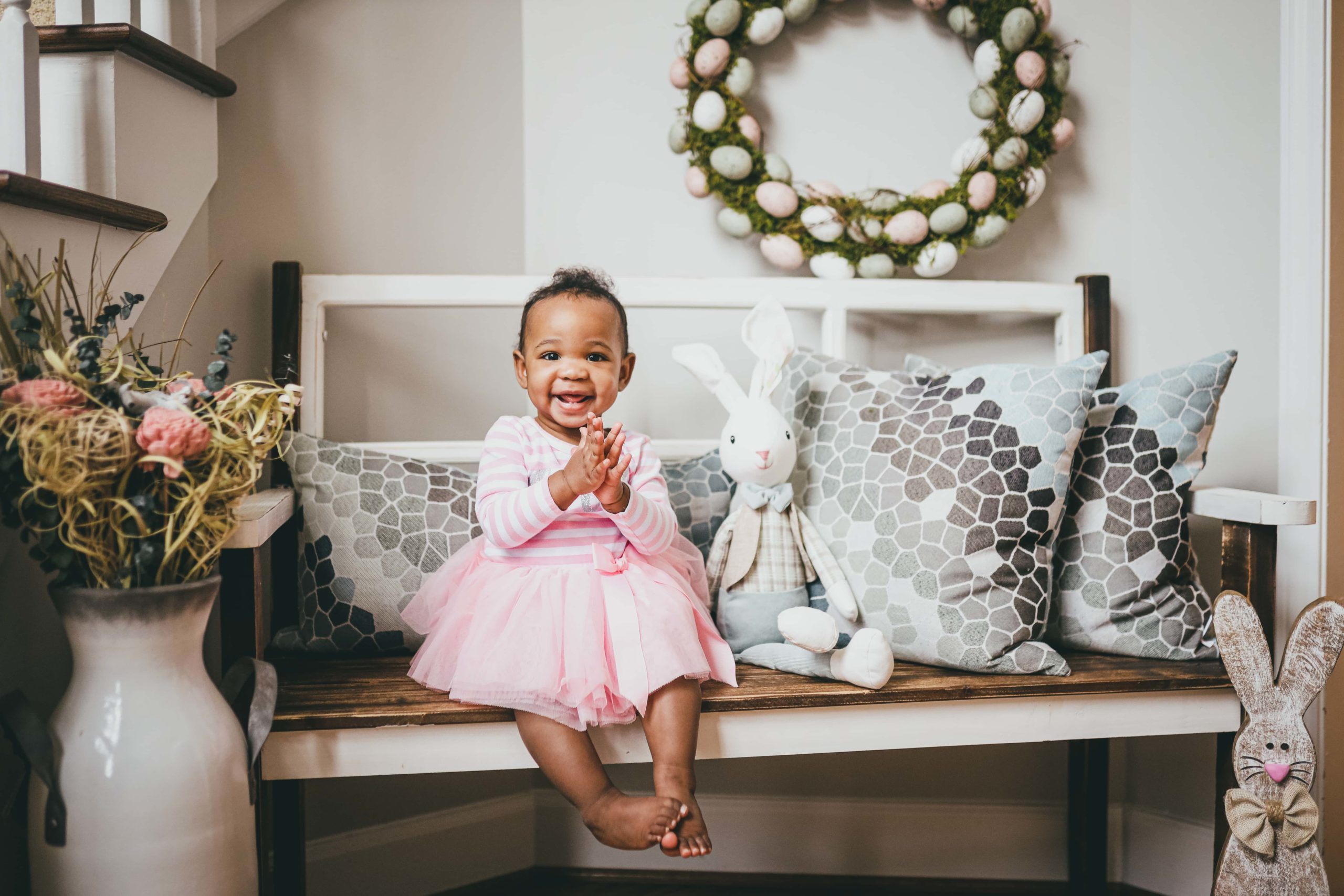 FIRST BIRTHDAY SESSION EASTER PHOTOS