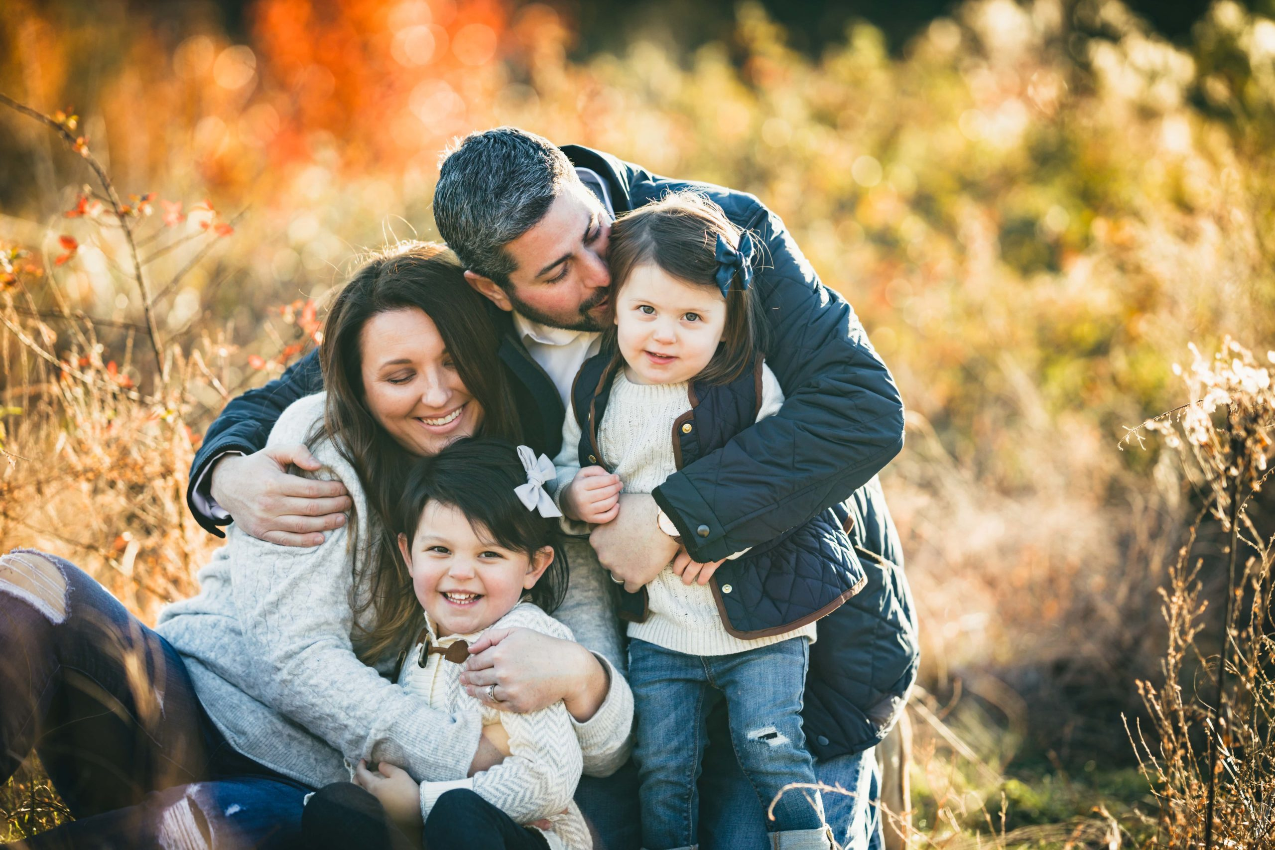 Atlanta Family Photographers Family Snuggle Fall Pictures
