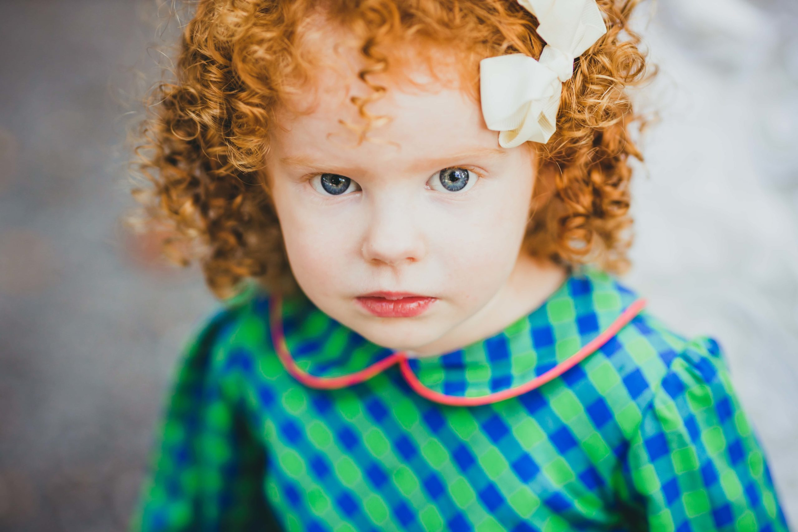 Atlanta Family Photographer Little Girl With Red Curls